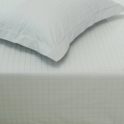 Hotelier Prestigio™ Cliff Grey Check Fitted Sheet Set - Bedding Affairs