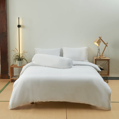 Cotton Pure™ White Jersey Cotton Quilt Cover - Bedding Affairs