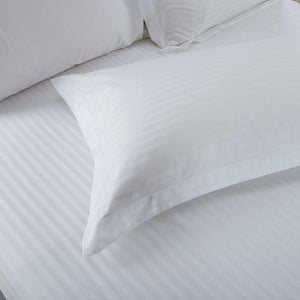 Hotelier Prestigio™ White Sateen Stripe Pillow Case