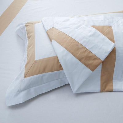 Hotelier Prestigio™ Luxury White Base Champagne Pillow Case - Bedding Affairs