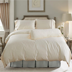 Hotelier Prestigio™ Cream Brown Fitted Sheet Set