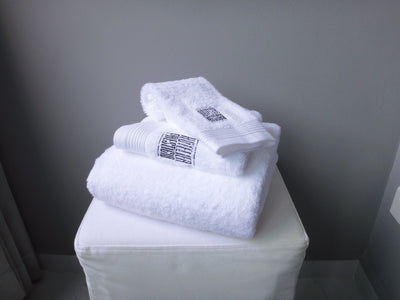 Hotelier Prestigio™ Embroidery White Towel Collection - 3 Pcs Set - Bedding Affairs