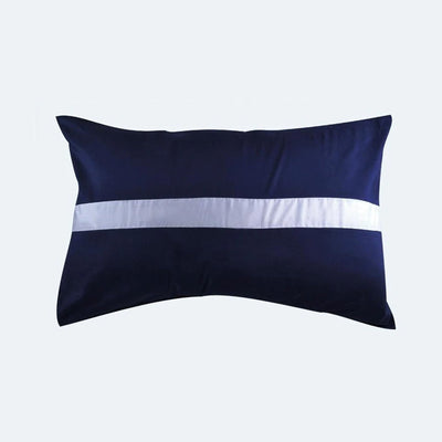 Palais Suite™ Color Block Royal Blue Pillow Case - Bedding Affairs