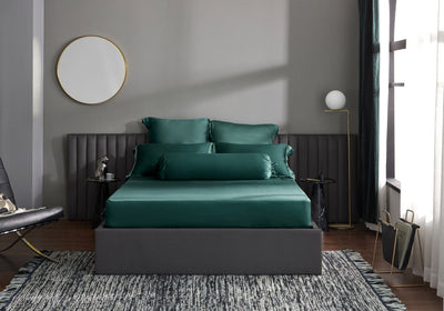 Palais Suite TENCEL™ Duca Emerald Fitted Sheet Set - Bedding Affairs
