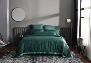 Palais Suite TENCEL™ Duca Emerald Quilt Cover