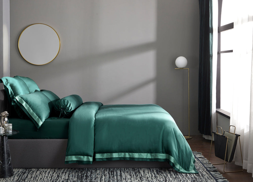 Palais Suite TENCEL™ Duca Emerald Bolster Case - Bedding Affairs