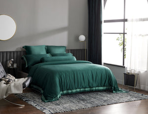Palais Suite TENCEL™ Duca Emerald Fitted Sheet Set