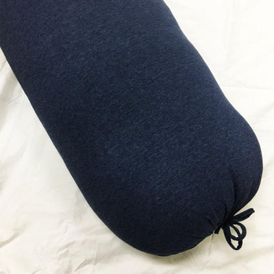 Cotton Pure™ Prussian Blue Knitted Cotton Bolster Case - Bedding Affairs