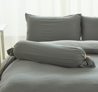 Cotton Pure™ Ash Grey Jersey Cotton Bolster Case - Bedding Affairs