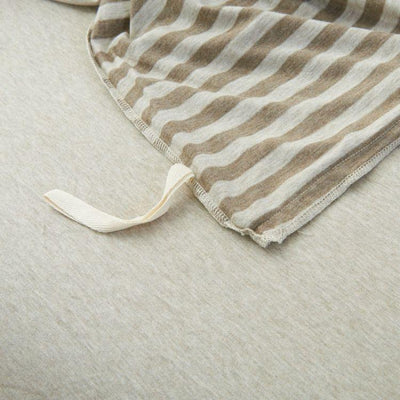 Cotton Pure™ Brownie Beige Stripe Knitted Cotton Quilt Cover Quilt Cover Cotton Pure™