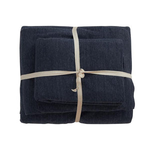 Cotton Pure™ Prussian Blue Knitted Cotton Quilt Cover