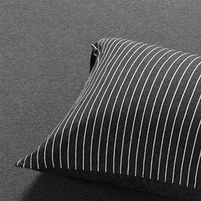 Cotton Pure™ Classic Black Stripe Jersey Cotton Pillow Case Pillow Case Cotton Pure™