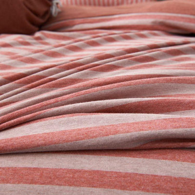 Cotton Pure™ Auburn Stripe Jersey Cotton Quilt Cover - Bedding Affairs