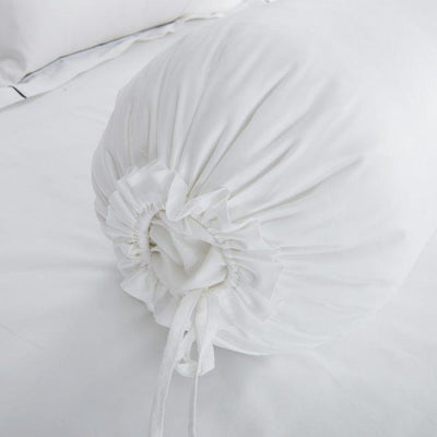 Hotelier Prestigio™ Luxury White Bolster Case - Bedding Affairs