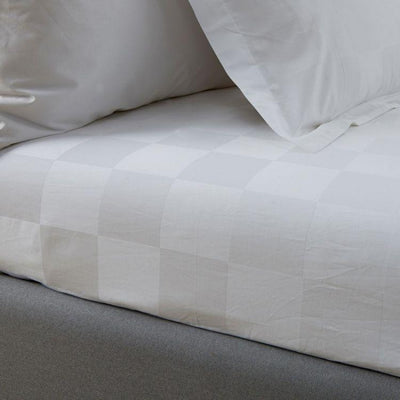Hotelier Prestigio™ White Sateen Square Quilt Cover - Bedding Affairs