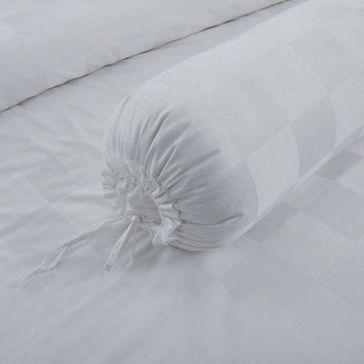 Hotelier Prestigio™ White Sateen Square Bolster Case - Bedding Affairs