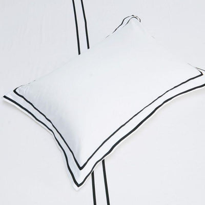 Hotelier Prestigio™ Black Grosgrain Border Pillow Case Pillow & Bolster Case Hotelier Prestigio™