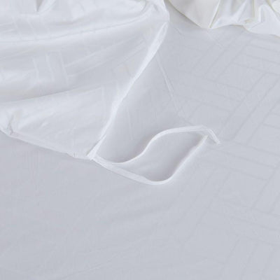 Hotelier Prestigio™ White Sateen Cross Bolster Case - Bedding Affairs