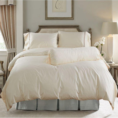 Hotelier Prestigio™ Cream Brown Fitted Sheet Set Fitted Sheet Set Hotelier Prestigio™