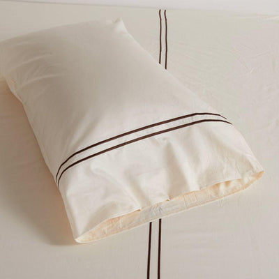 Hotelier Prestigio™ Cream Brown Pillow Case