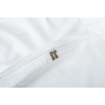 Hotelier Prestigio™ Luxury White Greyish Stripe Quilt Cover - Bedding Affairs