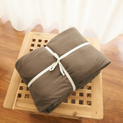 Cotton Pure™ Coyote Brown Stripe Knitted Cotton Fitted Sheet Set - Bedding Affairs