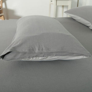 Cotton Pure™ Ash Grey Knitted Cotton Fitted Sheet