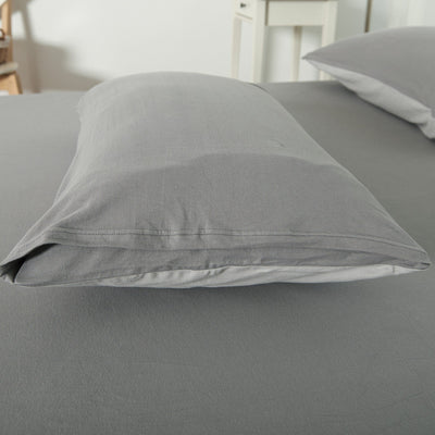 Cotton Pure™ Ash Grey Jersey Cotton Pillow Case - Bedding Affairs