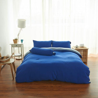 Cotton Pure™ Klein Blue Jersey Cotton Bolster Case - Bedding Affairs