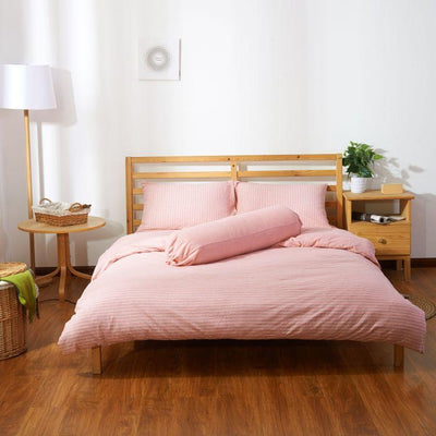 Cotton Pure™ Pinky Stripe Knitted Cotton Bolster Case
