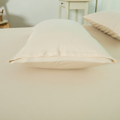 Cotton Pure™ Milky Beige Knitted Cotton Pillow Case Pillow & Bolster Case Cotton Pure™