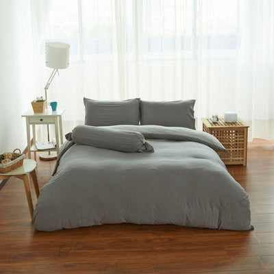 Cotton Pure™ Ash Grey Knitted Cotton Quilt Cover