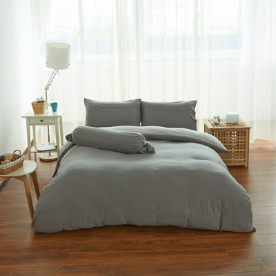Cotton Pure™ Ash Grey Knitted Cotton Bolster Case - Bedding Affairs