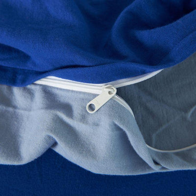 Cotton Pure™ Klein Blue Jersey Cotton Quilt Cover - Bedding Affairs