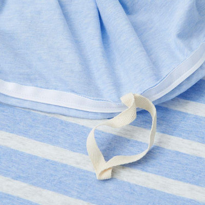 Cotton Pure™ Sky Blue Stripe Knitted Cotton Quilt Cover Quilt Cover Cotton Pure™