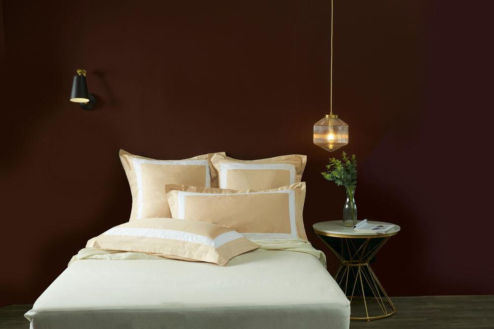 Hotelier Prestigio™ Luxury Champagne White Border Euro Sham - Bedding Affairs
