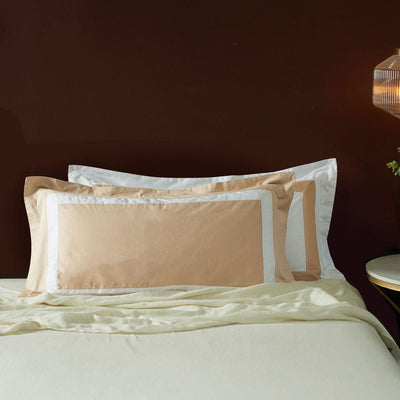 Hotelier Prestigio™ Luxury Champagne White Border King Sham - Bedding Affairs