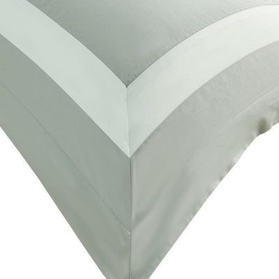 Hotelier Prestigio™ Luxury Cliff Grey Base White Border King Sham - Bedding Affairs