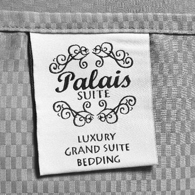 Palais Suite TENCEL™ Pixel Grey Fitted Sheet Set - Bedding Affairs