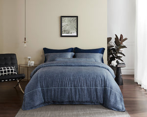 Palais Suite TENCEL™ Ocean Lined Quilt Cover