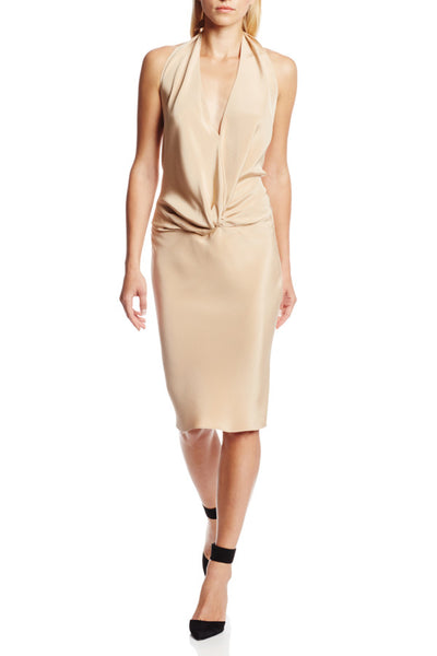Aimai Dress - Nude Silk