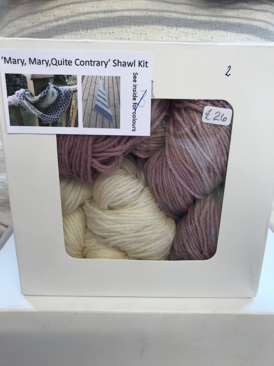 Mary, Mary, Quite Contrary Shawl Kit number 2
