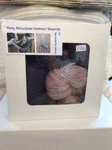Mary, Mary, Quite Contrary Shawl Kit number 3