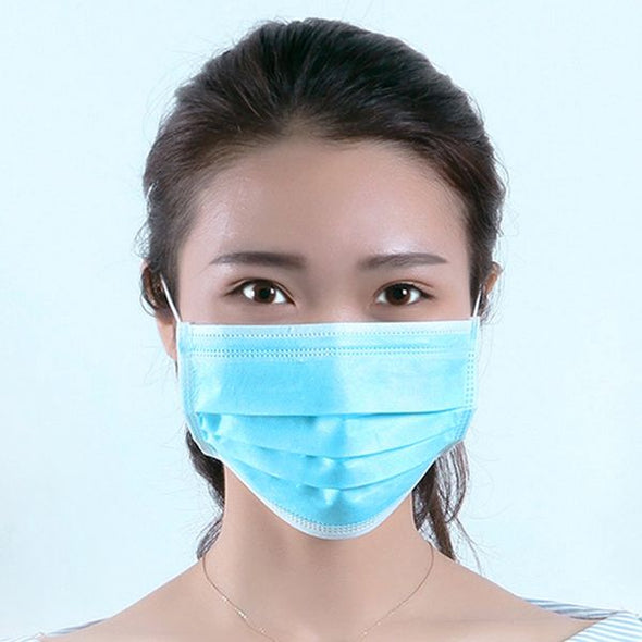 50Pcs Disposable 3-Layer Masks Anti Dust Breathable Disposable Earloop Mouth Face Mask Comfortable Sanitary Surgical Mask - yuechaotoys