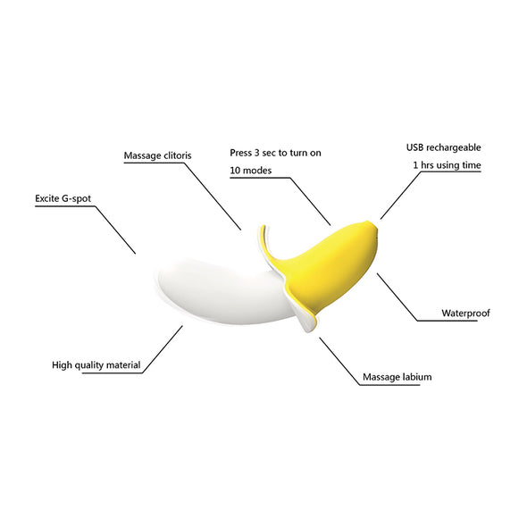 Cute Banana shape Excite 10 modes G-spot Vibrator Dildo for women - yuechaotoys