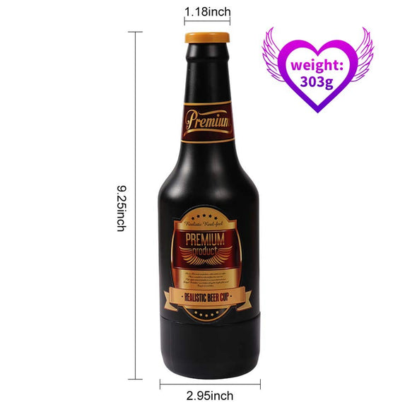 Environmental Sexy Beer Bottle Shape  Male Masturbator - yuechaotoys