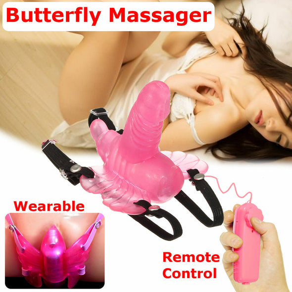 Wireless Remote Control Vibrating Butterfly Massager - yuechaotoys