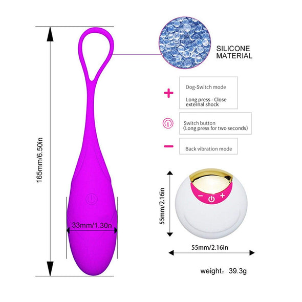 Powerful Remote Control 10 Speeds Vibrating G-Spot Love Eggs - yuechaotoys