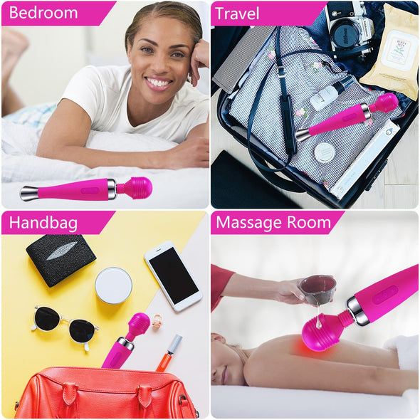 Lovely Portable Cordless Wand Massager - yuechaotoys