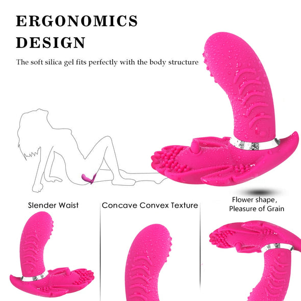 Remote Control Butterfly Vagina Clitoris Stimulator - yuechaotoys